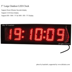 IP65 Cabinet Outdoor LED Wall Clock with Countdown/up Function Hours Minutes Seconds LED Countdown Clock