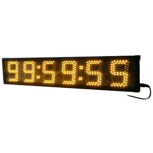 Yellow  COLOR LED Race Timing Clock 5