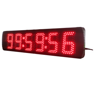 5 Inch Giant Large LED Wall Clock with Countdown/up Function LED Race Clock for Sports Events