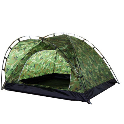 Single layer 3 persons waterproof camouflage military camping tent