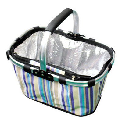 Oxford one handle folding picnic heat preservation and cooler basket