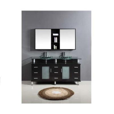 Classic solid wood bathroom toilet cabinet vanity