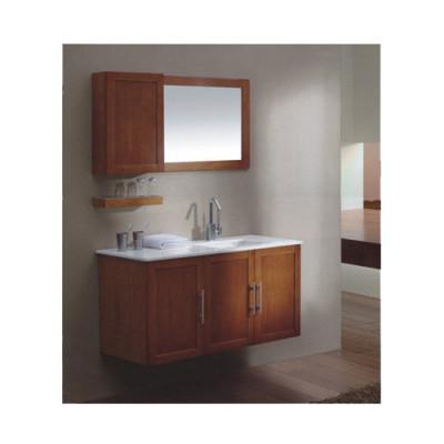 Ceramic wash basin oak hanging bathroom cabinets