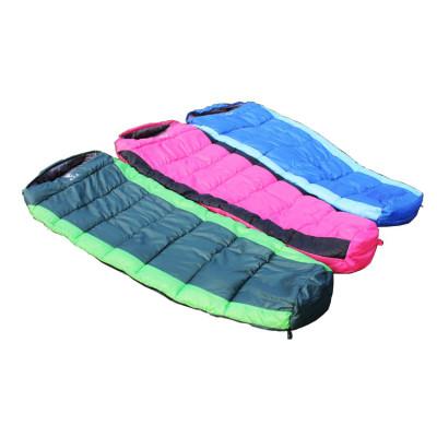 Cold weather nylon outdoor mummy human sleeping bag