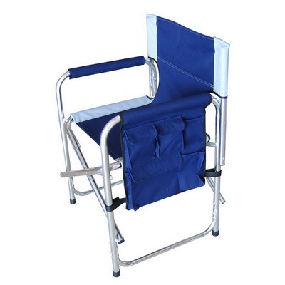 Strong frame beach director chairs with side pocket