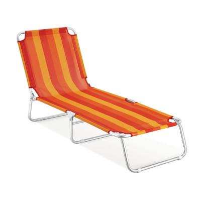 Stripe design lightweight foldable camping longue