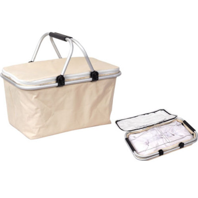 600D Aluminium lining shopping picnic food cooler bag