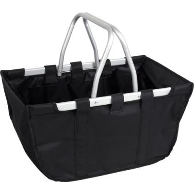 Black Alu frame folding camp shopping basket