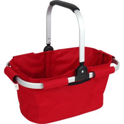 Foldable single handle can basket shopping bag