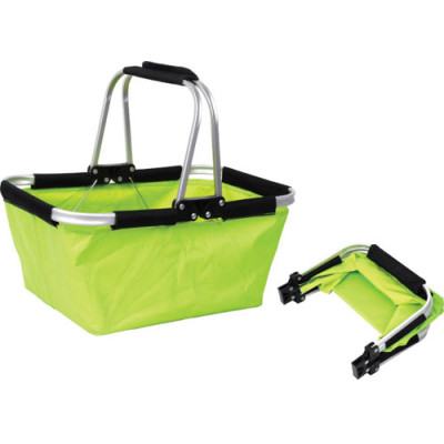 Green double handle shopping camp picnic baskets