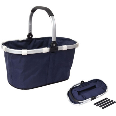 Durable aluminum handle outdoor leisure food basket