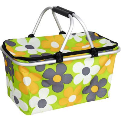 Colorful flower camping beach picnic basket