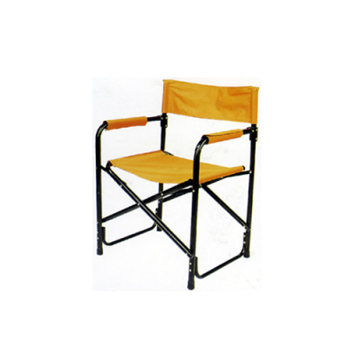 Yellow steel tube adult director chair