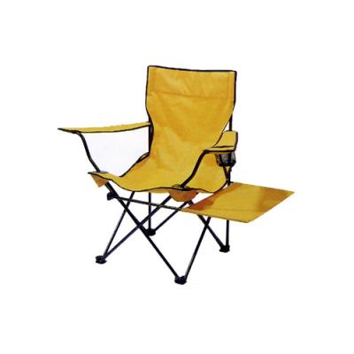 Yellow 600D oxford camping beach chair