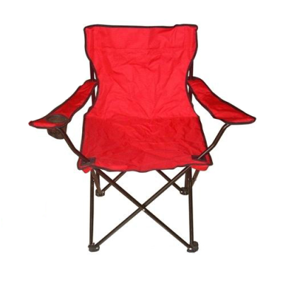 Red 600x300D fabric foldable beach chairs