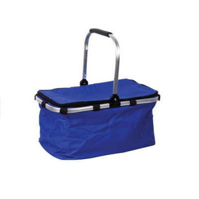 Blue oxford Aluminum tube foldable bottle cooler basket