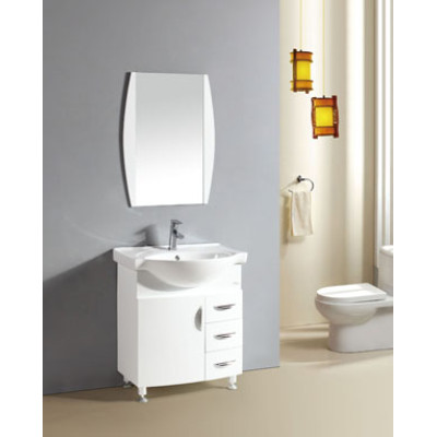 Single floor standing PVC bathroom vanity cabinets