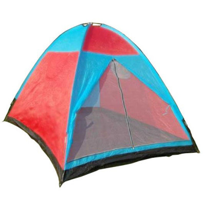 Single layer polyester material 2 person camping tent