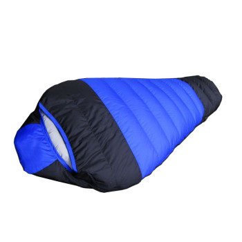 Cold weather white duck down outdoor trekking mummy sleeping bag