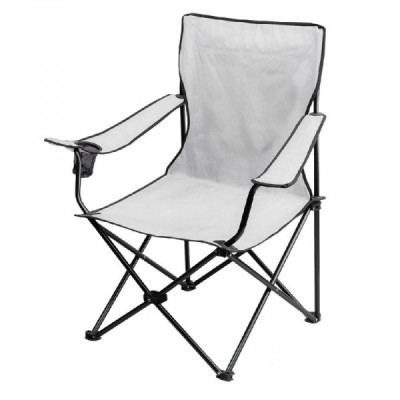 All white steel tube  folding traveling beach chairs