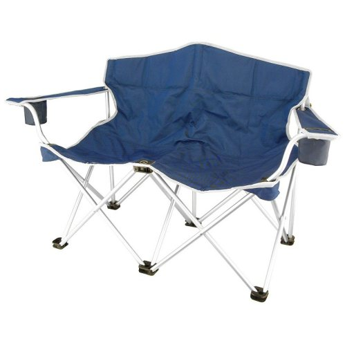 Double seats camping foldable beach chair China Camp Arm Chair Supplier &