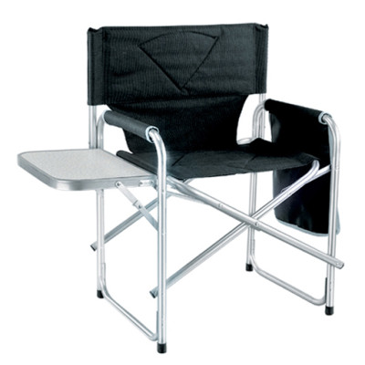 Aluminum tube side table camp fishing director chair