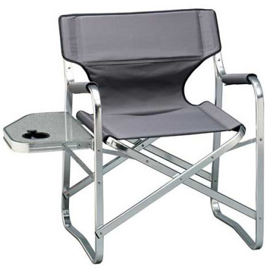 Flat aluminum tube side table foldable director chair