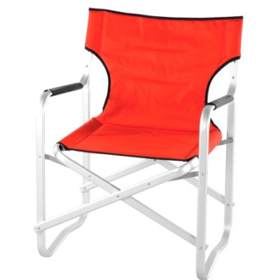 Strong flat tube folding director chair