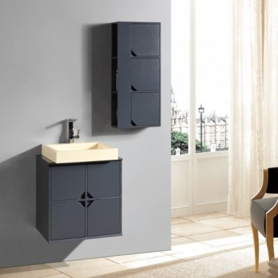 New style floating bathroom tower MDF cabinet