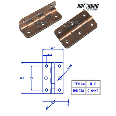 antique copper plain hinge