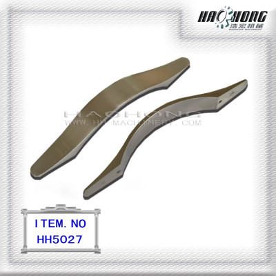 Sleek metallic handles cabinet pulls