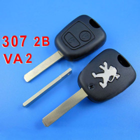 Peugeot Remote Key 2 Button (307 without Groove)
