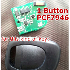 Renault 1 Button PCB Board (PCF7946)