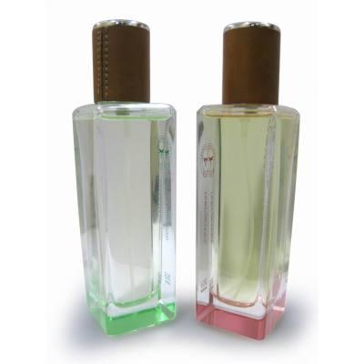glass perfume bottle, polished  bottle