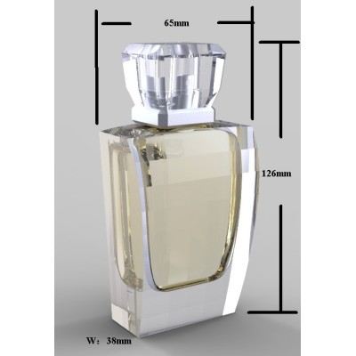 crystal glass bottle, perfume bottle