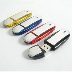 Metal Logo Print Custom Swivel USB Flash Disk