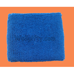 Blue Terry Sweatband