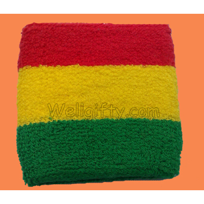 3 Colors Stripes Sweatband