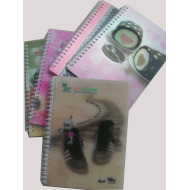Fashionable 3D PP Cover Notebooks
