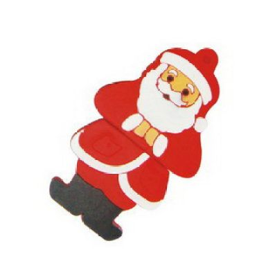 PVC Santa Claus Jewelry USB Flash Drive