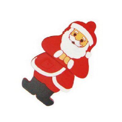 PVC Santa Claus Jewelry USB Flash Drive