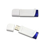Plastic White USB Flash Drive With Good Quality