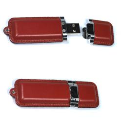 Leather  Hot selling OEM Swivel USB Flash Drive With Logo