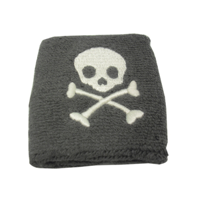Embroidery Skull Sweatband