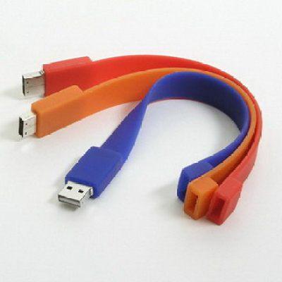 Silicone  Fashion and Beautiful Design Wristband USB Flash Memory