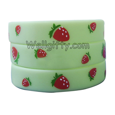 Strawberry Silicone Wristband