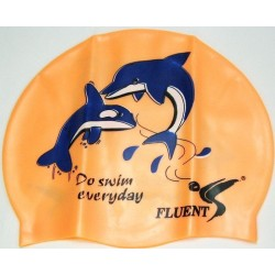 Cartoon silicone swimming cap