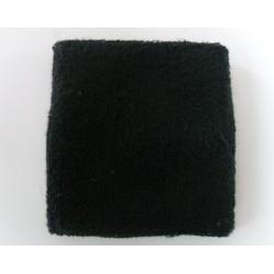 Black Athletic Wrist Sweatband
