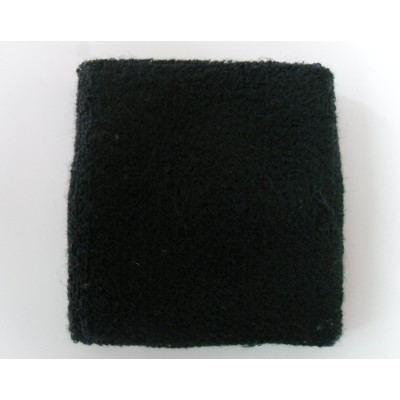 Black Athletic Wrist Sweatband