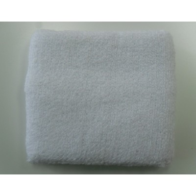 White Athletic Sweatband